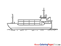Tanker Kids download Coloring Pages