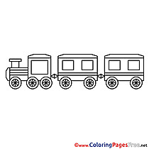 Train download printable Coloring Pages