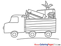 Truck Kids download Coloring Pages