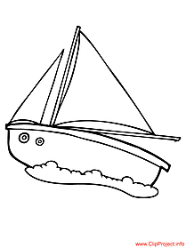 Yacht image to coloring