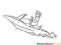 Yacht Kids free Coloring Page