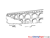 Aqueduct free Colouring Page download