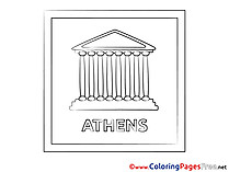 Athens Children Coloring Pages free