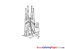 Barselona Travelling Children Coloring Pages free