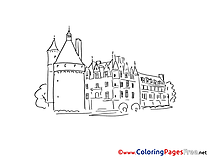 Castle download printable Coloring Pages
