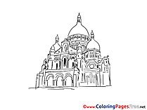 Cathedral printable Coloring Pages for free