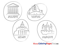 Cities Coloring Sheets download free