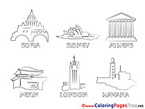 Cities printable Coloring Sheets download