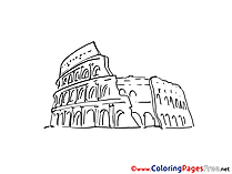Coliseum Coloring Pages for free