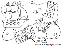 Columbus for Kids printable Colouring Page