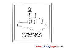 Havana Colouring Sheet download free