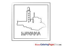 Havana Colouring Sheet download free