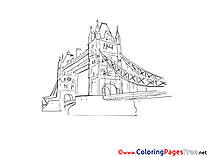 London Bridge Colouring Page printable free