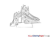 London Bridge Colouring Page printable free