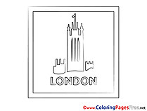 London free printable Coloring Sheets
