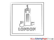 London free printable Coloring Sheets