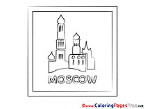 Moscow printable Coloring Pages for free