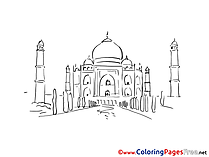 Mosque download Colouring Sheet free