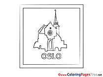 Oslo Children download Colouring Page