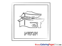 Pekin for Children free Coloring Pages