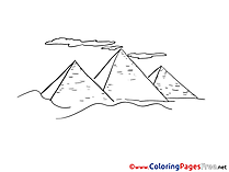 Pyramides Egypt for Children free Coloring Pages