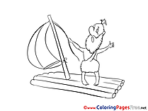 Raft printable Coloring Sheets download