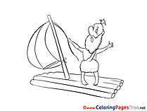 Raft printable Coloring Sheets download