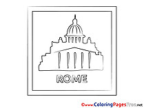 Rome Kids free Coloring Page