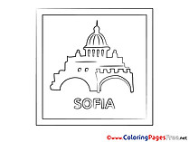Sofia for Kids printable Colouring Page