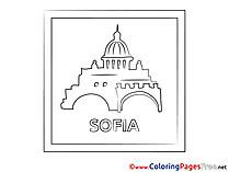 Sofia for Kids printable Colouring Page