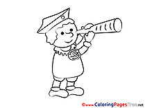 Spyglass Boy download printable Coloring Pages