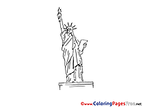 Statue of Liberty for free Coloring Pages download