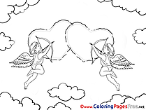 Amurs Kids Valentine's Day Coloring Pages