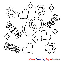 Candies Coloring Sheets Valentine's Day free
