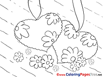 Chamomiles Hearts Valentine's Day free Coloring Pages