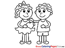 Children Valentine's Day Coloring Pages free