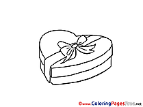 Chocolate Candies printable Coloring Pages Valentine's Day