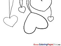 Coloring Pages Hearts Valentine's Day for free