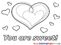 Compliment You Are Sweet download Valentine's Day Coloring Pages
