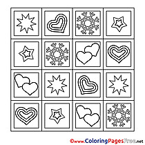 Decoration Valentine's Day Coloring Pages download
