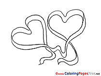 Drawing Hearts for Kids Valentine's Day Colouring Page