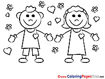 Enamored Coloring Sheets Valentine's Day free