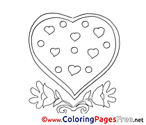 Free Heart Valentine's Day Coloring Sheets