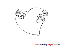 Heart Coloring Pages Valentine's Day for free