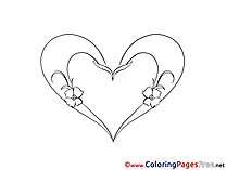 Heart free Valentine's Day Coloring Sheets
