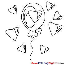 Hearts printable Valentine's Day Coloring Sheets