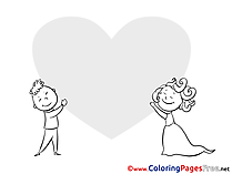 In Love free Colouring Page Valentine's Day