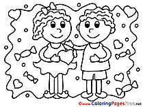 Kids Coloring Sheets Valentine's Day free