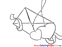 Letter Love Valentine's Day Colouring Sheet free