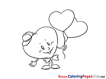 Love Hearts Valentine's Day Coloring Pages download